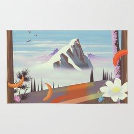 Idaho! landscape travel poster Rug