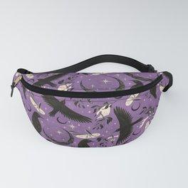 Raven Tarot Purple  Fanny Pack
