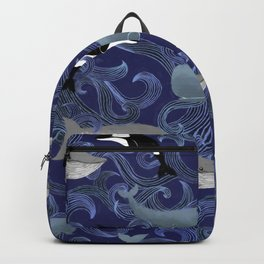 Beautiful Ocean Giants - purple Backpack