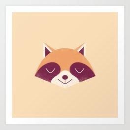 Minimal Racoon Art Print