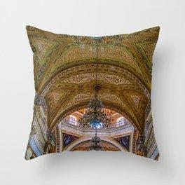 Guanajuato Basilica Ceiling Throw Pillow