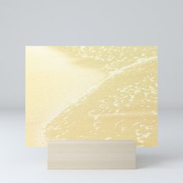 Kapalua Beach sparkling golden sand and seafoam Maui Hawaii Mini Art Print