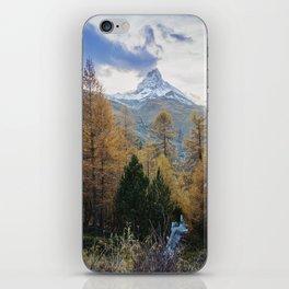 Autumn Colors by the Matterhorn iPhone Skin