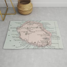 Vintage Reunion Island Map (1901) Rug