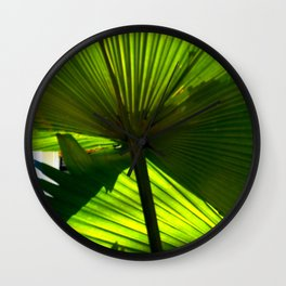 color of the year, tropical plant study Wall Clock
