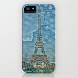 Tour Eiffel reflet iPhone Case