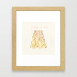 Spring is hear skirt Framed Art Print