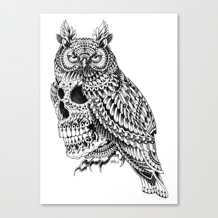 Great Horned Skull Canvas Print
