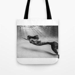 Mermaid Among Us (up) Tote Bag