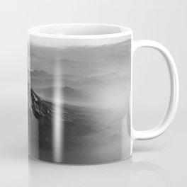 The West is Burning - Mt Shasta Black and White Coffee Mug