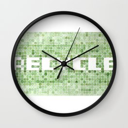 Recycle watercolor mosaic Wall Clock
