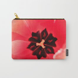 Pink Tulip Inside Photography Print Carry-All Pouch