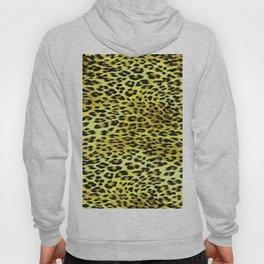 Yellow Tones Leopard Skin Camouflage Pattern Hoody