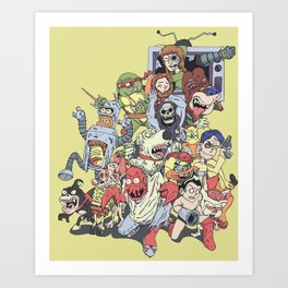Revenge of the mixed up toons that were at some point cancelled Art Print