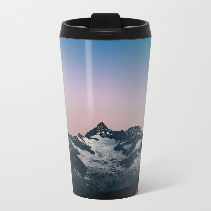 Hiking up mountains Metal Travel Mug