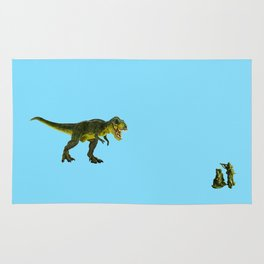 Dinosaurs vs Toy Soldiers Rug