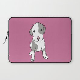 Millie The Pitbull Puppy Laptop Sleeve