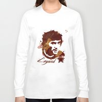 coffe Long Sleeve T-shirts featuring George Best - coffe stained by Colo Design