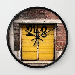 Yellow Door 248 Wall Clock