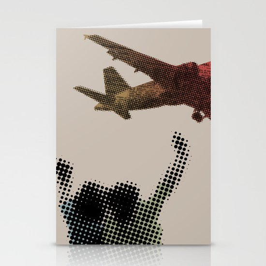 Dad's on that paper flight again Stationery Cards