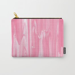 Girly pink white abstract watercolor marble Carry-All Pouch