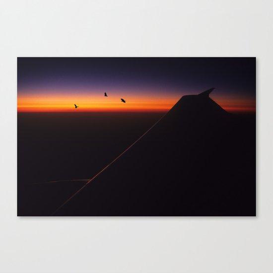 Boeing Sunset Canvas Print