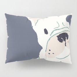 Cute French Bulldog (White w/ Spot) Pillow Sham