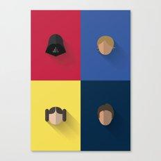 SW The Jedis - Minimalist Poster Canvas Print