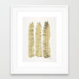 Golden Seaweed Framed Art Print