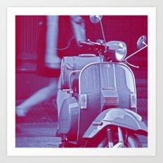 scooter violet tonton AL Art Print