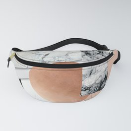Collage II ( marble, copper, volcanic rock) Fanny Pack