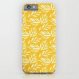 Tribal Husk - yellow iPhone Case