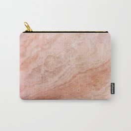 Polished Rose Gold Marble Carry-All Pouch