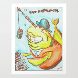 Fats Narwhaller Art Print