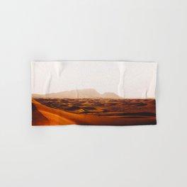 Minimalist Desert Landscape Sand Dunes With Distant Mountains Hand & Bath Towel