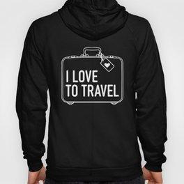 I Love To Travel Hoody