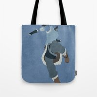 aang Tote Bags featuring Korra by JHTY