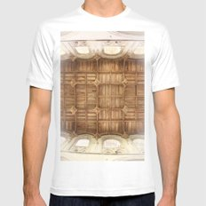 Wooden church ceiling  White MEDIUM Mens Fitted Tee