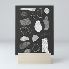 Monochrome Organic Abstract Mini Art Print