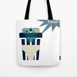 Trash Can Gets Underwear Tote Bag