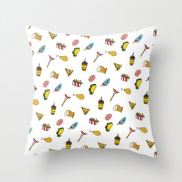 Calorie Counting Junk Food Throw Pillow