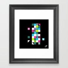 Something Other 1 On Black Framed Art Print