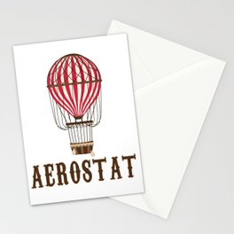 Retro Balloonist Hot Air Balloon Pilot Ballooning Vintage Gift Stationery Cards