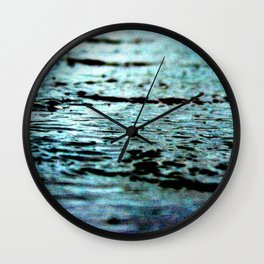 Red shores Wall Clock