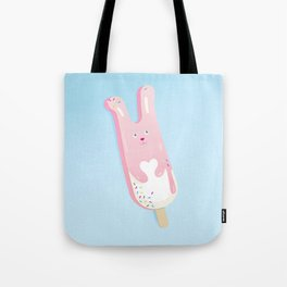 pink bunny ice lolly Tote Bag