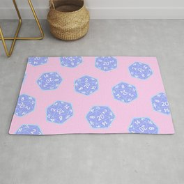 Twenty Sided Dice Pattern Rug