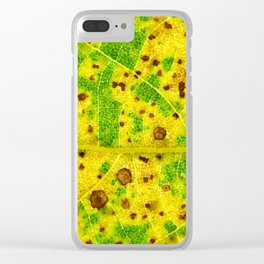 Macro Leaf no 7 Clear iPhone Case