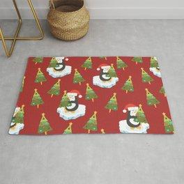 Loving Christmas Penguins Rug