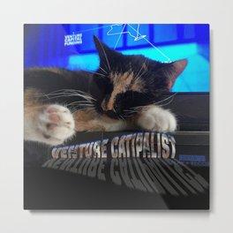 Sleeping Cat - Venture Catipalist Metal Print