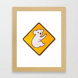 Koalas Cross Here Framed Art Print